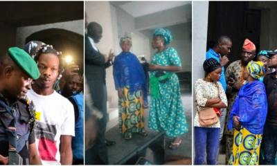 Naira Marley's mother in tears as EFCC hands him over to Nigerian Prison Service (Photos)