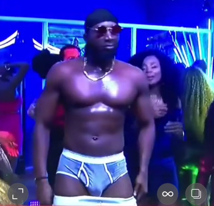 BBNaija 2019: Mercy reacts after Tuoyo strips to show massive eggplant (video)
