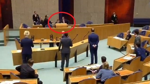 Shocking moment Dutch Health Minister collapses in Parliament due to 'coronavirus fatigue'