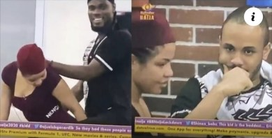 BBNaija 2020: The moment Prince gives Nengi doggy-style in front of Ozo and others