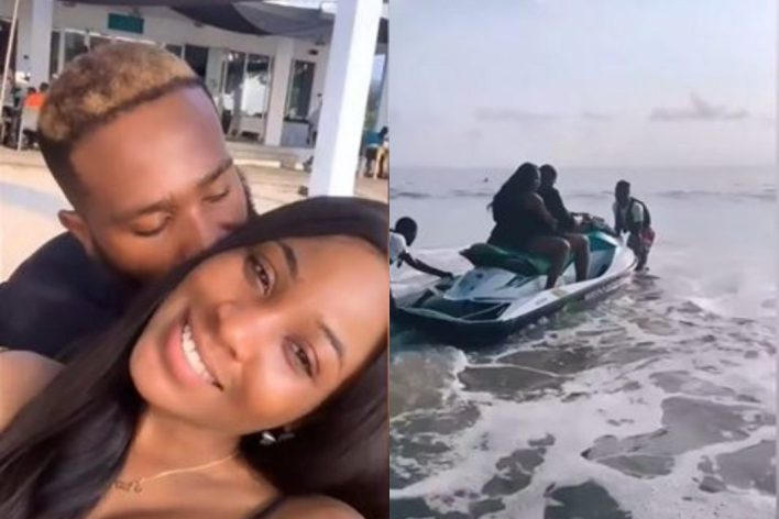 No hidden place for Kiddwaya and Erica as they show each other LOVE at the beach (Video)