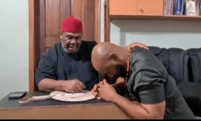 Veteran Actor Pete Edochie endorses son Yul for 2023 presidency.