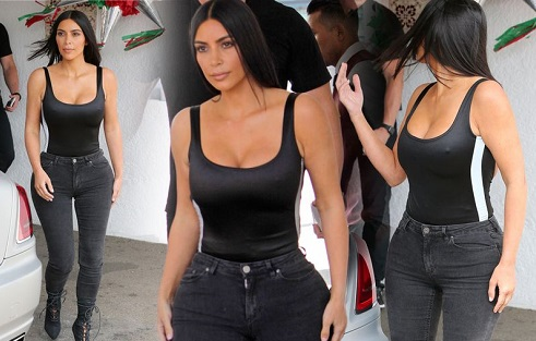 Kim Kardashian's Waist Looks Smaller Than Ever