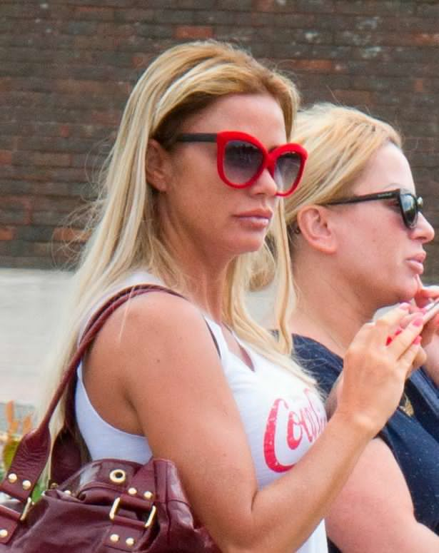 Katie Price cuts low-key figure on Good Friday