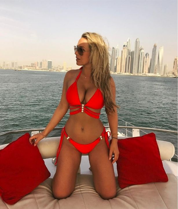 Kate Wright has quit TOWIE to concentrate on Rio (Image: xkatiewright/Instagram)