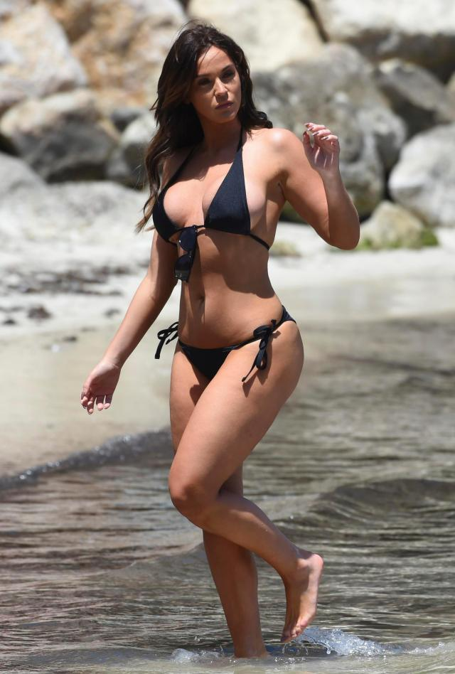 Vicky looked sensational as she enjoyed time at the beach