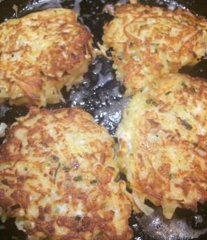 Cooked potato pancakes