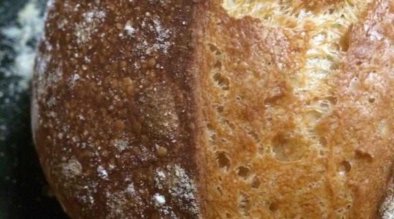 Homemade Four Ingredient No Knead Artisan Bread