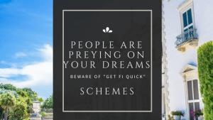 Beware Get Rich Quick Schemes