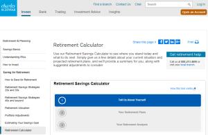 Charles Schwab Retirement Calculator Review