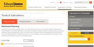 Edward Jones Retirement Calculator Review