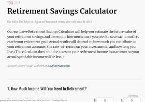 Kiplinger Retirement Calculator Review