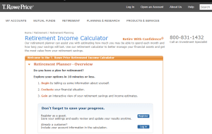 T Rowe Price Retirement Calculator Review