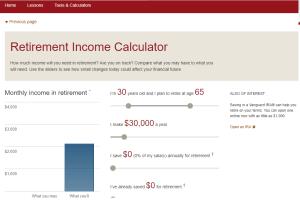 Vanguard Retirement Calculator Review