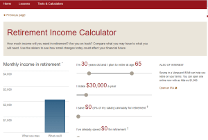 Vanguard Retirement Calculator Review