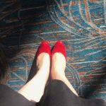 Fancy red shoes