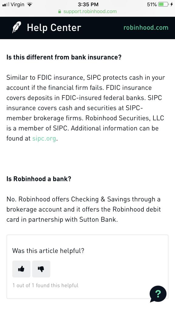 Robinhood Disclosure Continued