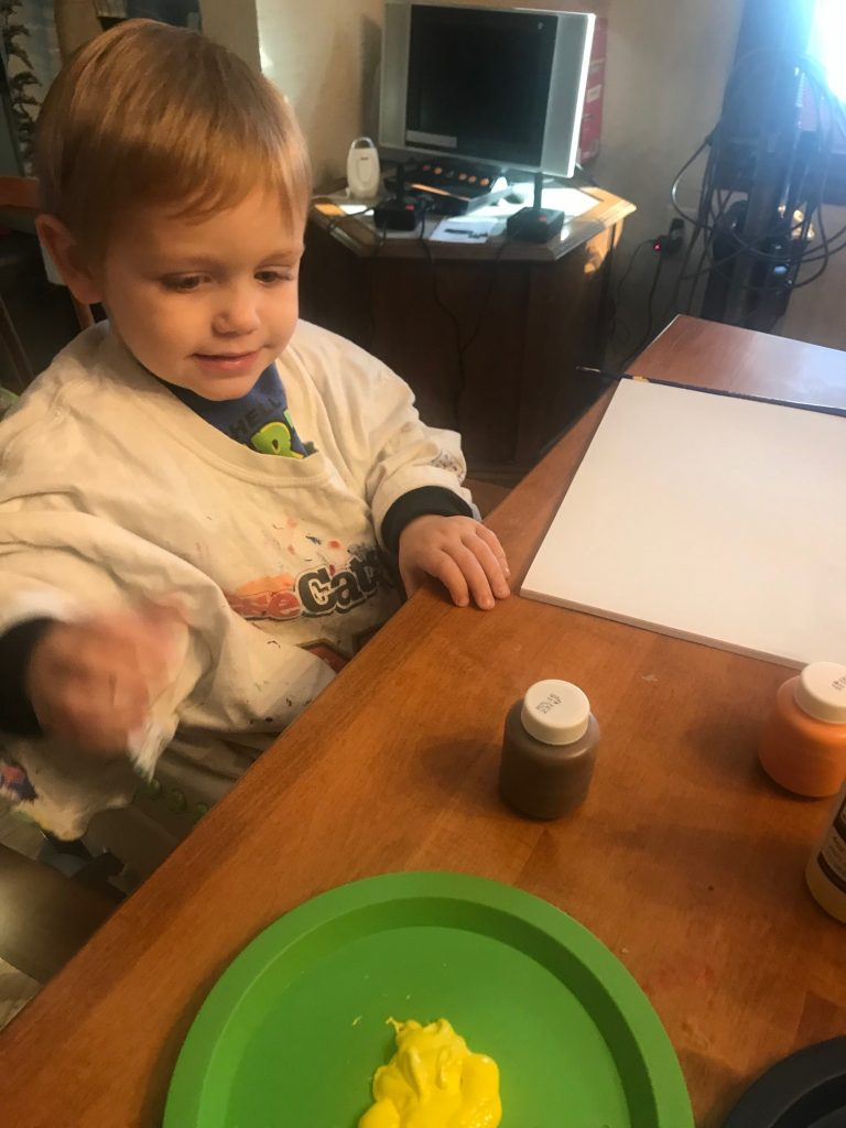 Alex painting