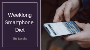 Weeklong Smartphone Diet The Results