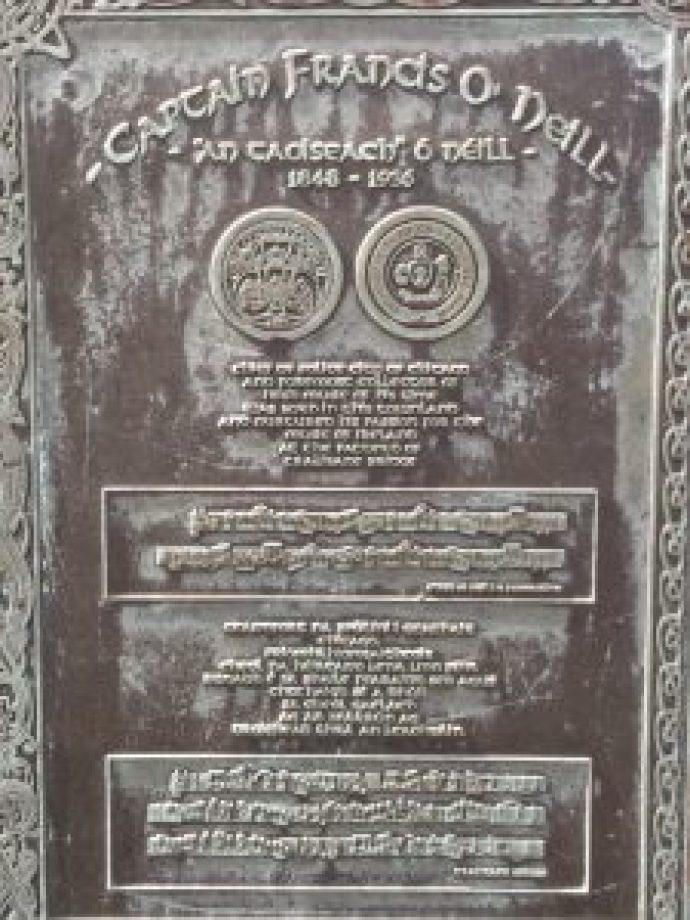 Plaque at Tralibane Bridge
