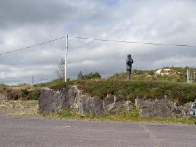 The Statue from a distance