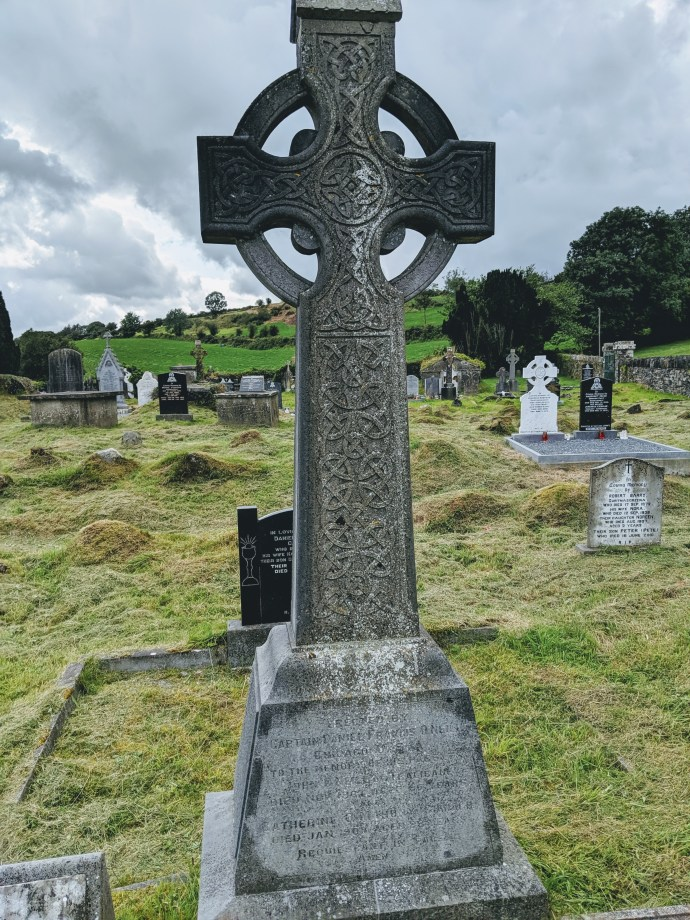 Tombstone erected by Francis O'Neill in memory of his parents (Caheragh, Co. Cork)