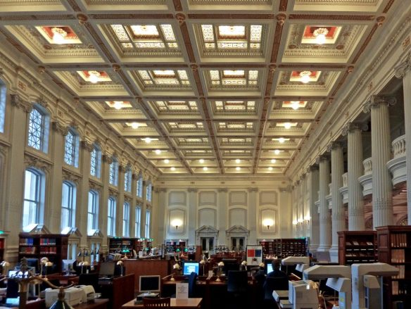 Library reading room at the Wisconsin Historical Society