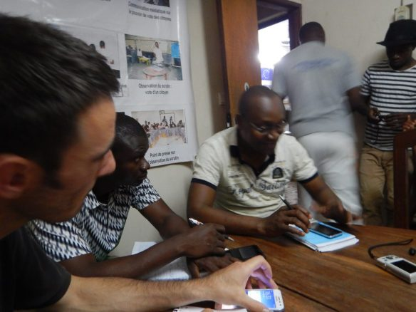Phillipe Nanga, head of an election observation NGO