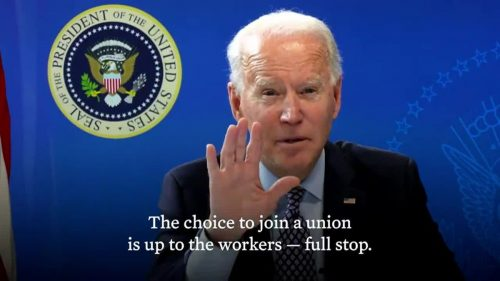 biden union president workers rights america