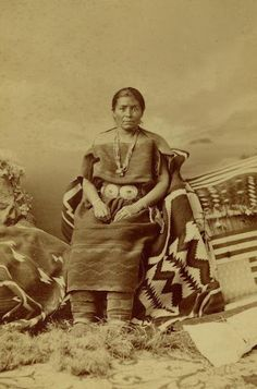 Navajo Woman Juanita in two piece dress 1873
