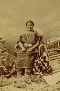 Navajo Woman Juanita in two piece dress 1873