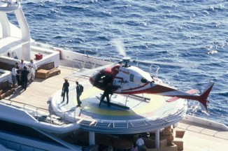 Helicopter-on-a-Yacht