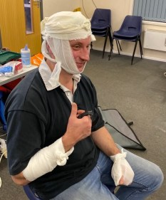 First Aid at Work Bandaging