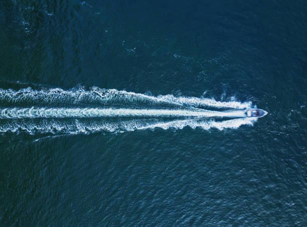Aerial-power-boat-sea