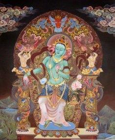 Green Tara, goddess of active compassion
