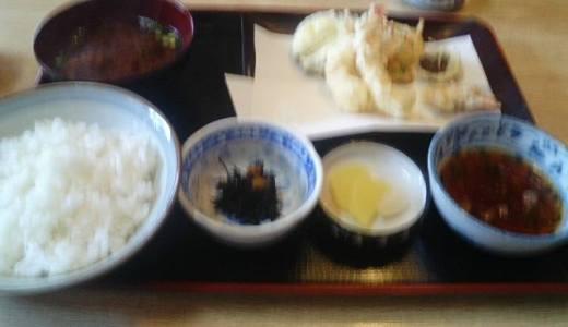 金屋食堂はリーズナブルでおいしい。ちえのおすすめは天ぷら定食。