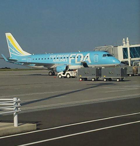富士山静岡空港で飛行機を見に行く。時刻表を見てからいったほうがいい。