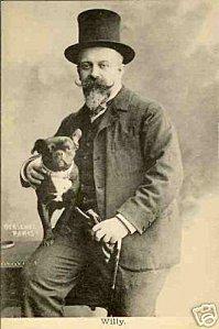 Toulouse Lautrec et son bouledogue