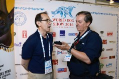 World Dog Show 2016 -Moscow: Interview with the Russian and international press. Photo by Mauricio Alvarez