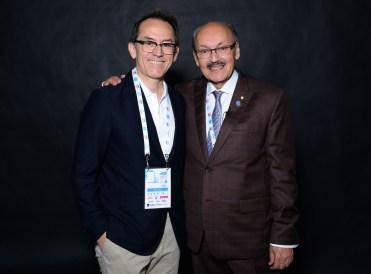 Pedro Santiago Allemant - Movie director and Rafael de Santiago - President of the Fédération Cynologique Internationale