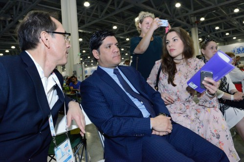 Pedro Santiago Allemant - Movie director, Jose Rodriguez - Counselor of the Embassy of Peru in the Russian Federation and Katia Tonkovid - Embassy of Peru in the Russian Federation