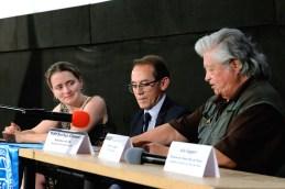 Emmanuelle Piccoli (anthropologist), Pedro S. Allemant (movie director) and Alberto Quintanilla (Peruvian artist and sculptor. Photo by Mauricio Alvarez.