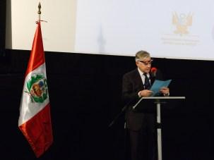 MC Jorge Prieto Hemmingsen de la Embajada del Perú en Bélgica. Photo by Mauricio Alvarez.