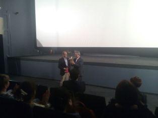 "Conference about ""El Perro sin Pelo del Peru"" at 35MM Cinema in Moscow. Photo by Daniel Casanave"