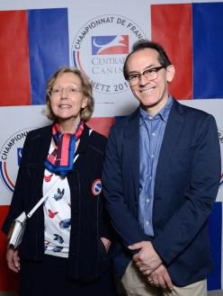 Hélène Denis (Vice Présidente - Association canine de la Lorraine) et Pedro Santiago Allemant (réalisateur du film). Photo by Mauricio Alvarez