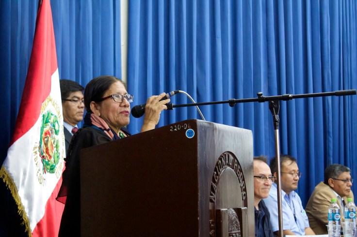 Lic. Consuelo Salas Valladolid (Asist. Serv. de Educación y Cultura - Oficina General de Responsabilidad Social Universitaria – UNPRG y Directora de Mosaico Cultural). Photo by Favio Jordi Martínez Nuntón / appp – adpp©2019.