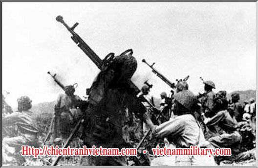 Cao xạ phòng không của Quân Giải Phóng Việt Nam - Việt Minh trong chiến dịch Điện Biên Phủ trong chiến tranh Đông Dương - Viet Minh Anti Aircarft gun in Battle of Dien Bien Phu in Indochina war