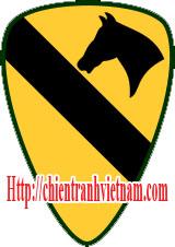 Biểu tượng và cầu vai của sư đoàn Không Kỵ số 1 Mỹ tham chiến trong chiến tranh Việt Nam - 1st Calvary Division insignia in Vietnam war