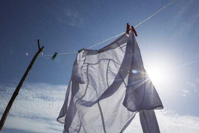 カレーしみ紫外線洗濯での落とし方