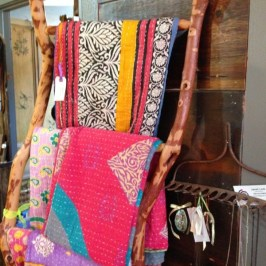 Handmade rack for quilts